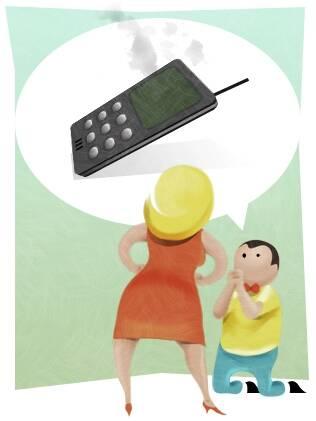 O celular, que deveria facilitar a comunicação, agora serve de desculpa para o sumiço