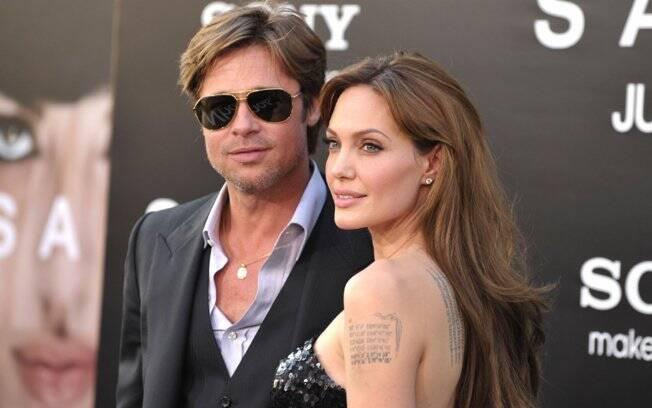 Angelina Jolie – 04.06.1975 – Gêmeos / Brad Pitt – 18.12.1963 – Sagitário