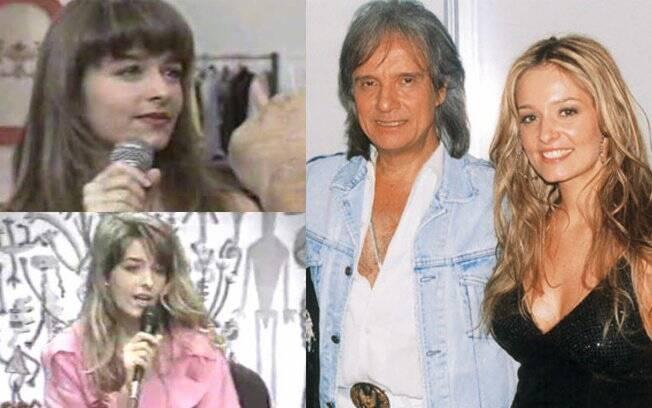 Luciana Vendramini nos anos 90 e com Roberto Carlos