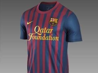 faa3b7ea7 Novo uniforme do time catalão já está à venda com o logotipo da empresa   Qatar Foundation