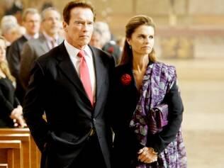 Arnold Schwarzenegger na época em que era casado com Maria Shriver