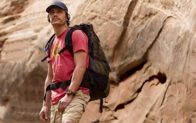 Franco como o alpinista Aron Ralston em