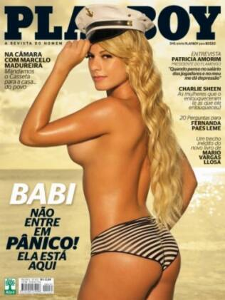 Babi Rossi na capa da Playboy de abril