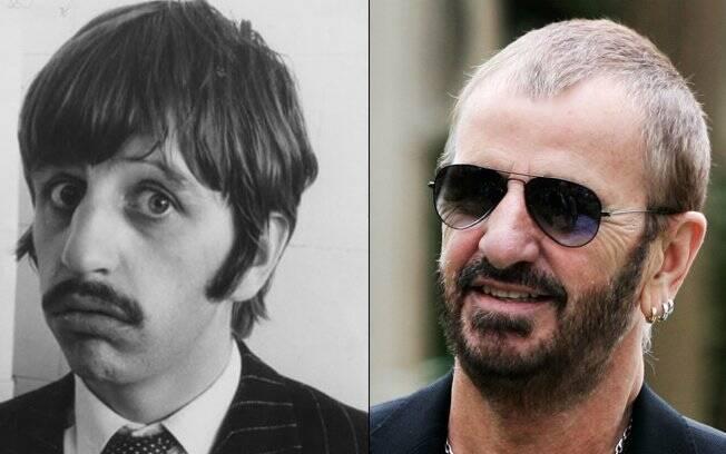 Ringo Starr na época do bombardeio e nos dias de hoje