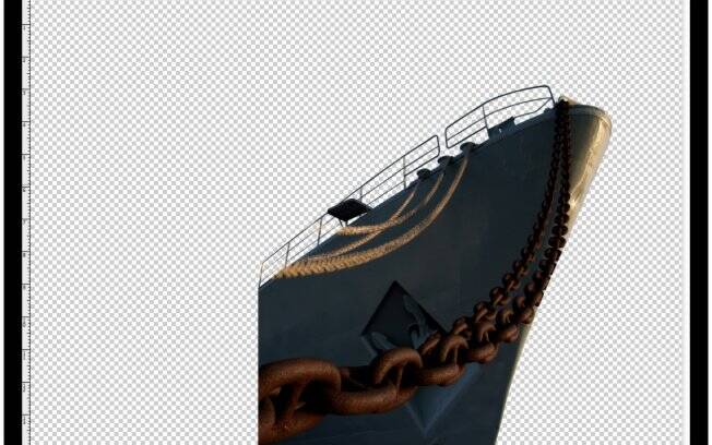 Passo 5: máscara aplicada na camada do navio