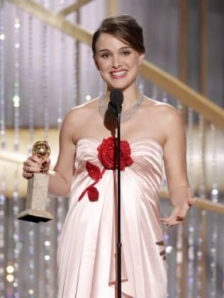 Natalie Portman na cerimônia do Globo de Ouro