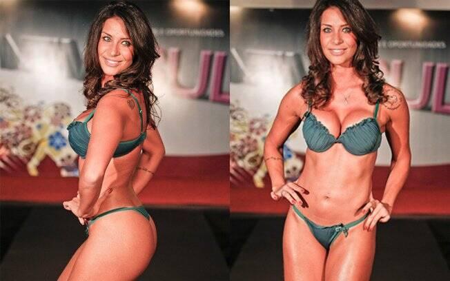 Lizzi Benites: dez quilos mais magra