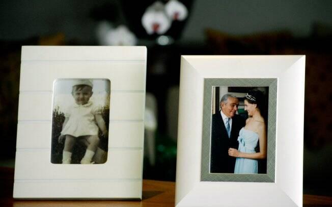 Detalhes do apartamento de Chico: uma foto do casamento com Malga e uma da mulher pequena