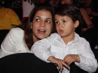 Nívea Stelmann e Miguel, seu filho com Mario Frias
