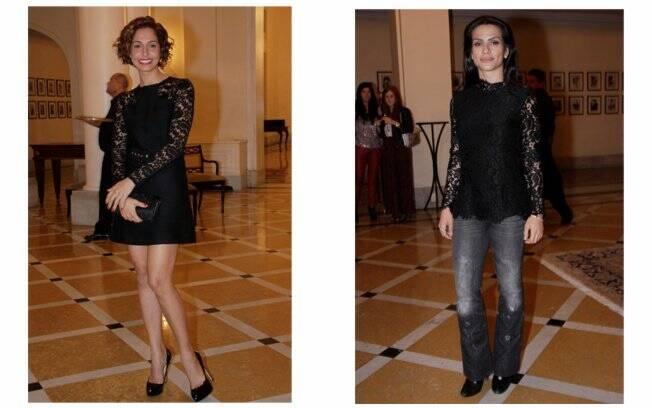 Camila Pitanga: pernas de fora e salto alto; Cleo Pires: jeans e bota