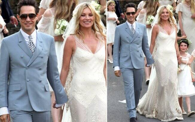 Kate Moss e Jamie Hince: recém-casados