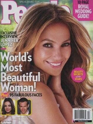 Jennifer Lopez foi eleita a mulher mais bonita do mundo