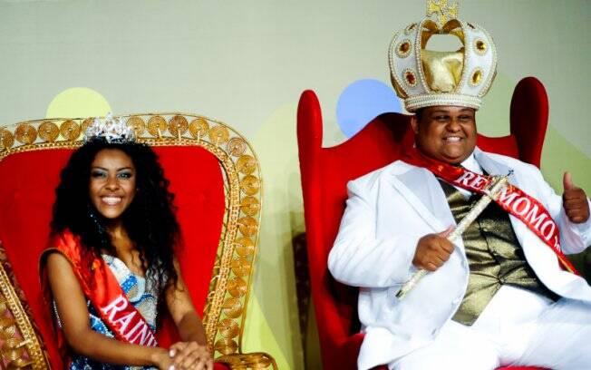 Luana Campos e Henrique de Moura Junior, a Rainha e o Rei Momo do Carnaval 2011 de São  Paulo