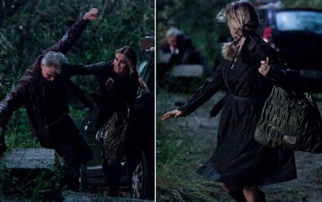 Naomi empurra Pimentel que bate a cabeça em uma pedra