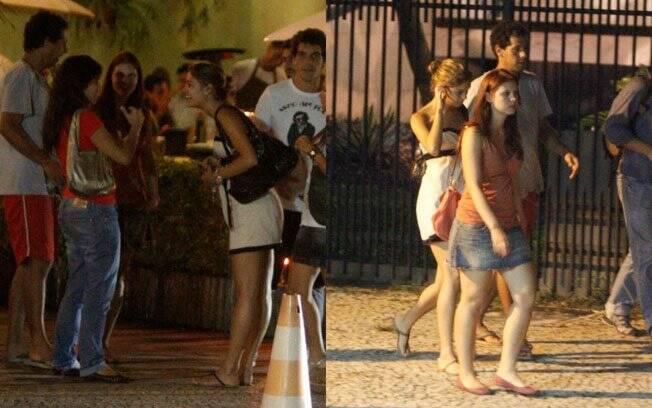Sophie Charlotte com os amigos Carolinie Figueiredo e Guga Coelho