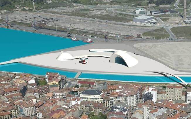 A primeira etapa da obra do Centro Cultural Internacional Oscar Niemeyer, em Avilés, na Espanha, será entregue hoje