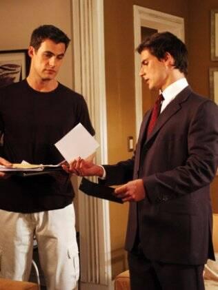 Rodrigo (Carlos Casagrande) e Tiago (Sérgio Abreu) em
