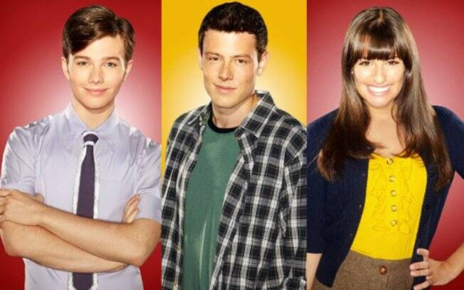 Chris Colfer, Cory Monteith e Lea Michele: fora de
