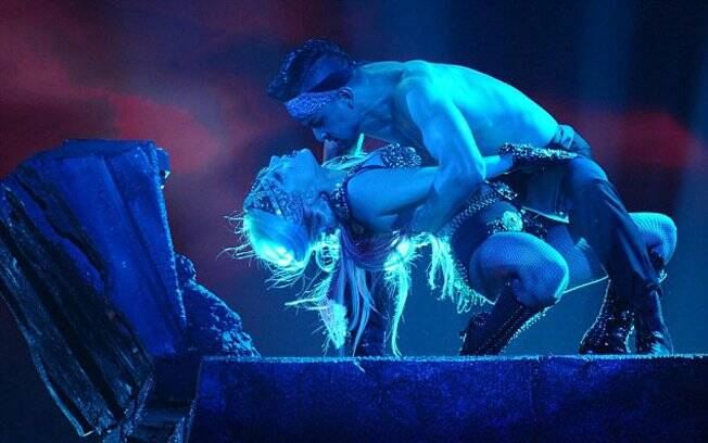 Lady Gaga durante apresentação