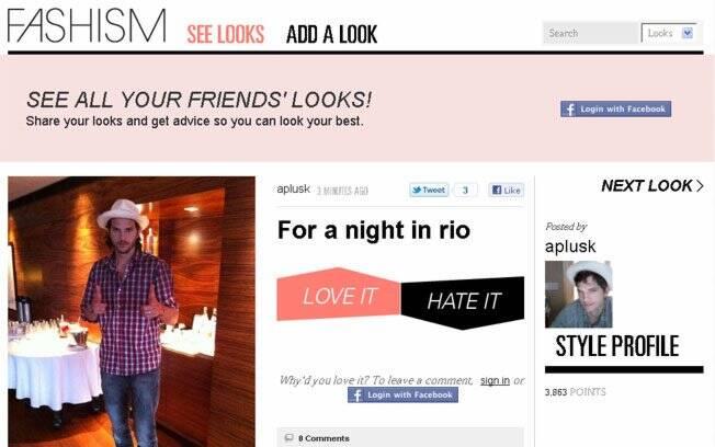 Ashton Kutcher mostra seu look para uma noite no Rio