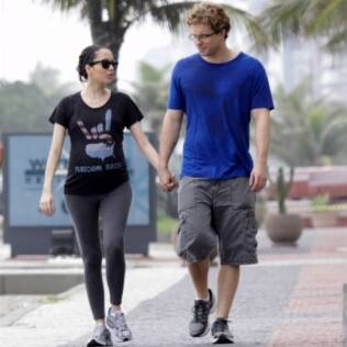 Thiago Fragoso com a mulher Mariana Vaz