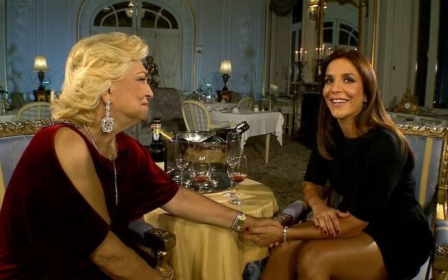 Hebe Camargo e Ivete Sangalo: encontro em Lisboa para entrevista para a RedeTV!