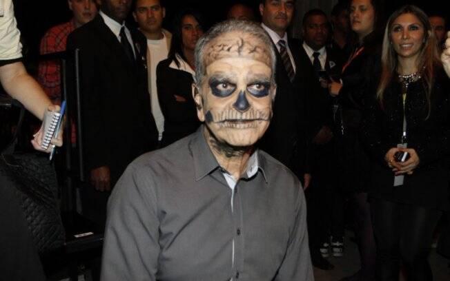Maurício Kubrusly com maquiagem de zumbi no Fashion Rio