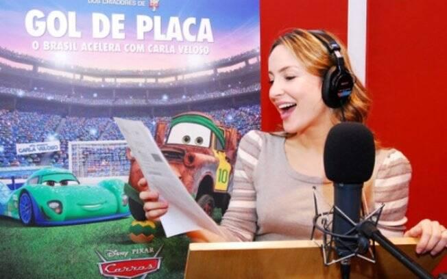 Claudia Leitte dará vida a personagem Carla Veloso, o carro brasileiro na animação