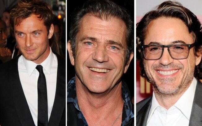 Jude Law está aborrecido com Robert Downey Jr., e o pivô da história é Mel Gibson