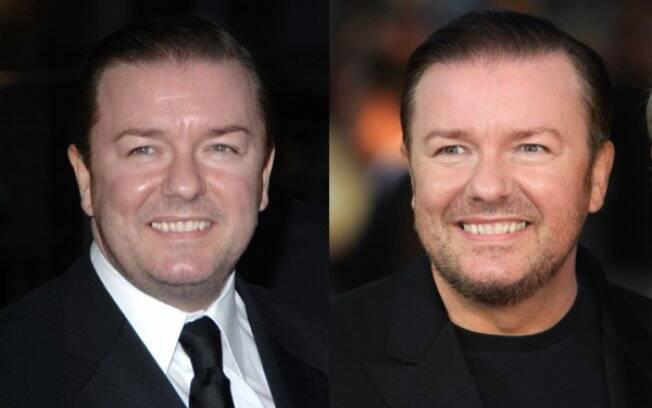 Ricky Gervais: antes e depois