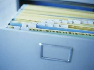 Organize os documentos em pastas