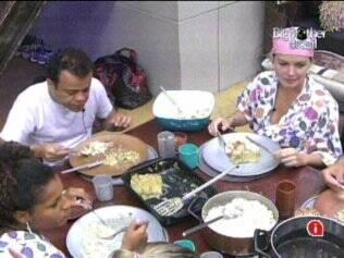 Diana ironiza Maurício durante o almoço