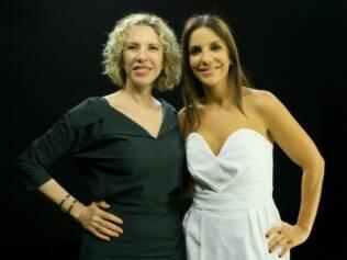 Marília Gabriela recebe Ivete Sangalo em seu programa no SBT