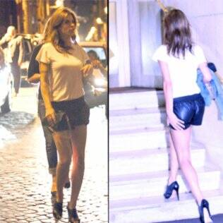 Elisabetta Canalis em Roma: roupa ousada
