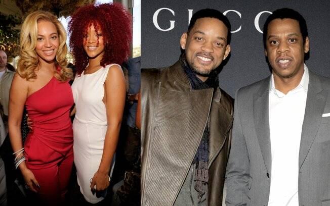 Beyoncé, Rihanna, Jay-Z e Will Smith: poderosos do show biz em almoço pré-Grammy