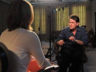 Charlie Sheen em entrevista à ABC