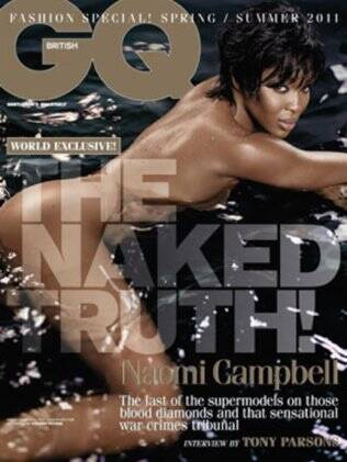 Naomi Campbell na capa da