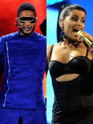 Usher e Nelly Furtado: cantora já revelou que doará US$ 1 milhão