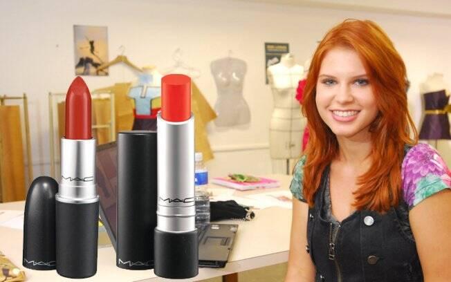 Vermelho intenso: MAC Red Lipstick   Laranja vibrante: Pro Longwear Goes and Goes