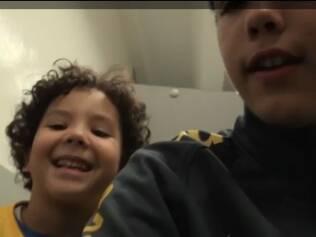 Alex e Ronaldo, filhos do Ronaldo