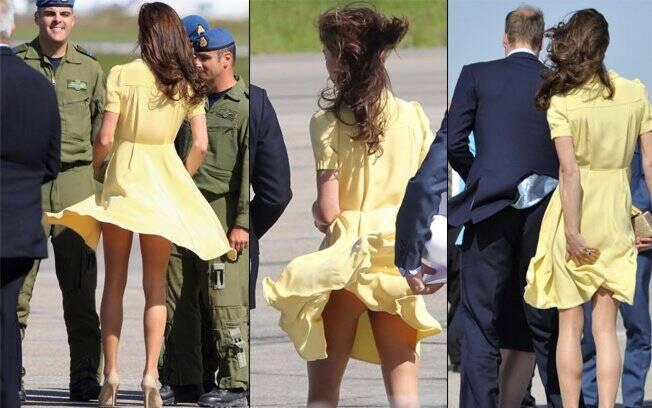 Kate Middleton: calcinha e bumbum de fora
