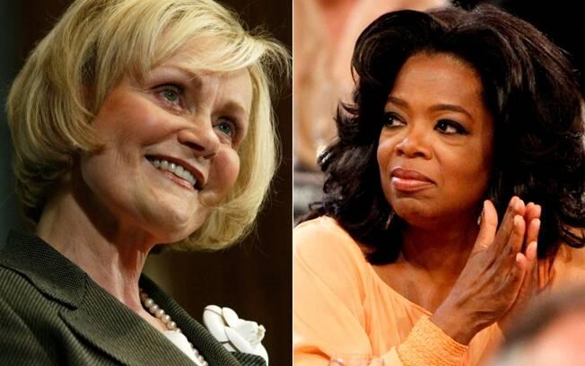 Kitty Kelley, biógrafa de celebridades, e Oprah Winfrey: apresentadora preferiu não comentar sobre a biografia não-autorizada