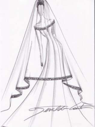 Geraldo imagina um vestido com saia em A, bem clássico