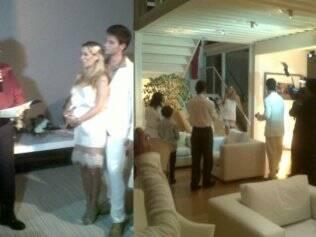 Eles se casaram em 8 de dezembro, em uma cerimônia íntima
