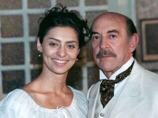 Maria Fernanda Cândido e Raul Cortez em