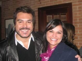A apresentadora Maria João e o namorado, o artista plástico Alessandro Jordão