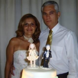 Cláudia e Paulo comemoram sua união