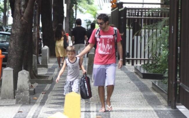 Bruno Mazzeo e João: parque aquático é programa preferido