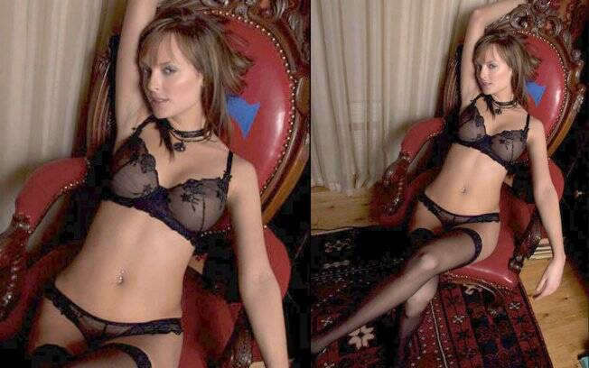 Shera Bechard nas fotos de seu porfolio oficial: mudança para se adequar ao padrão Playboy