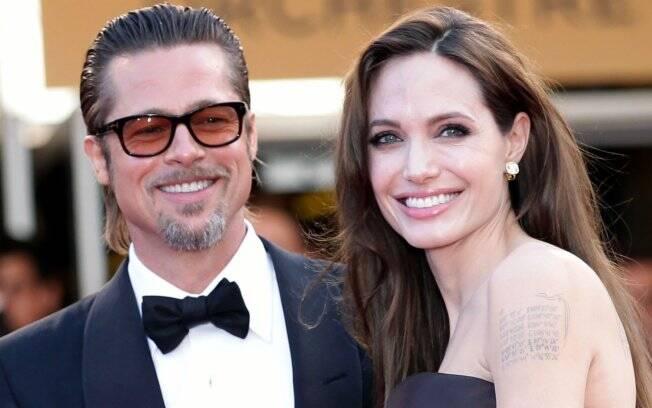Brad Pitt e Angelina Jolie foram juntos à estreia de